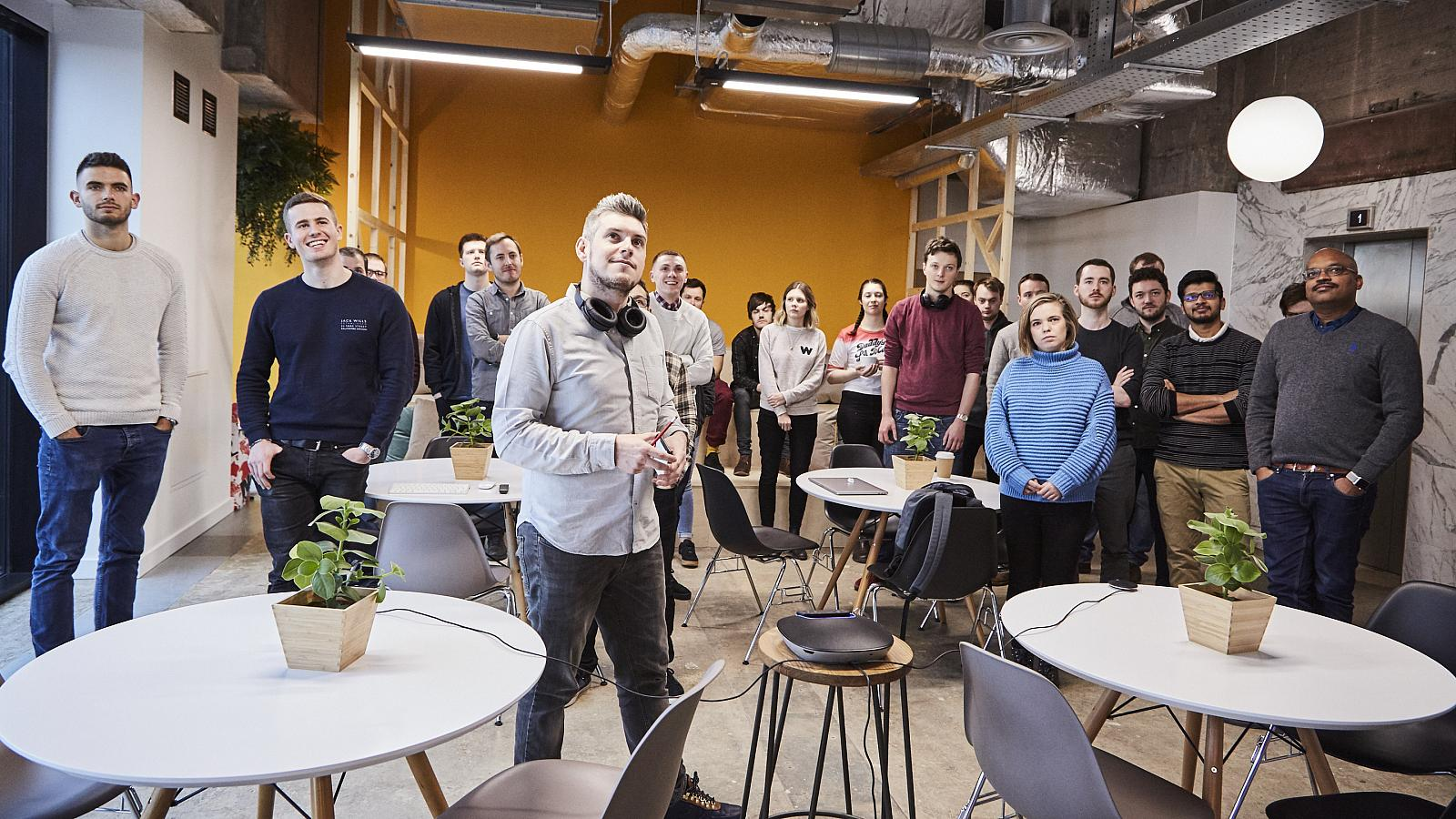 the Peak team in its Manchester HQ